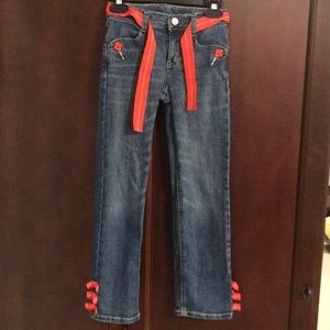 Girls Gymboree jeans with matching belt size 7